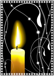 Free Vector Candle Card Royalty Free Stock Photos - 10085648