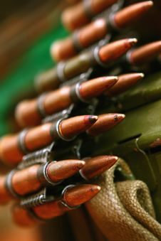 Free Cartridges For Machine-gun Royalty Free Stock Image - 10085976