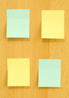 Free Yellow And Blue Blank Cards Notes On Wooden Royalty Free Stock Photo - 10088525
