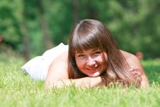 Free Girl In Green Grass Royalty Free Stock Photography - 10088777