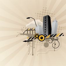 Free Abstract City Illustration Stock Photography - 10088942