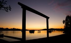 Free Sunrise Over The Noosa River. Royalty Free Stock Images - 100821639