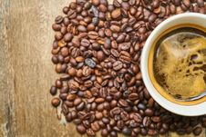Free Coffee, Caffeine, Jamaican Blue Mountain Coffee, Superfood Stock Photo - 100832730