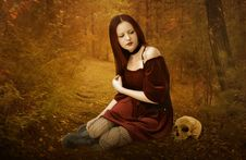 Free Girl, Lady, Computer Wallpaper, Autumn Stock Photography - 100834582