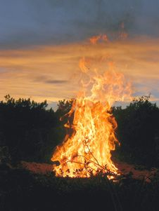 Free Fire, Bonfire, Wildfire, Heat Royalty Free Stock Photography - 100847777