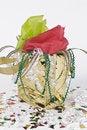 Free Gold Gift Bag Stock Photo - 10093520