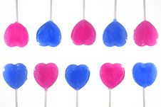 Free Blue And Pink Lollipop Royalty Free Stock Photo - 10092555