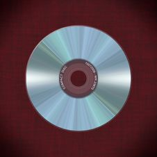 Free Realistic Compact Disc On Red Background Royalty Free Stock Images - 10092789