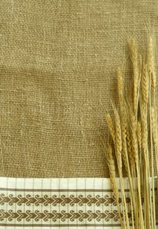 Free Wheat Ears On Sacking Stock Photo - 10093910