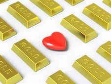 Gold Collection - Push Here Royalty Free Stock Images