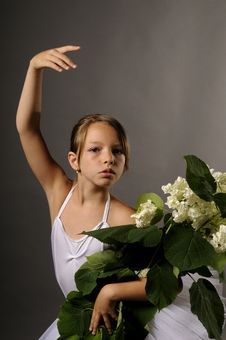 Free Ballerina With Flowers Stock Photo - 10094990