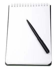 Free Close-up Notebook And Pencil Isolated On White Stock Photo - 10096410