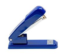 Free Blue Strip Stapler Isolated On White Royalty Free Stock Photography - 10096417