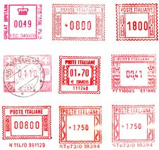 Free Rectangular Postmarks Royalty Free Stock Photography - 10097217