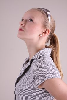 Free Fashion Model In Studio Royalty Free Stock Photography - 10099187