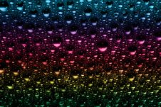 Free Macro Of Colorful Water Drops Royalty Free Stock Photo - 10099435