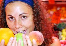 Free Woman Holding Fruit Stock Photo - 10099540