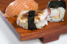 Free Sushi On Plate Royalty Free Stock Photos - 1010128