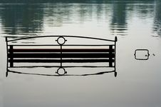 Free Bench In Water Stock Photography - 1011342