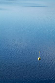 Free Yellow Buoy In The Water Stock Images - 1011494