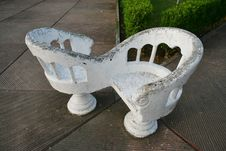 Free Couple Of Stone Chairs Royalty Free Stock Image - 1012056
