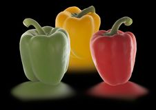 Free Peppers In Different Colors Stock Photo - 1012170