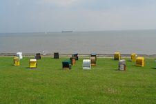 Free Beach At Cuxhaven, Germany Stock Photo - 1012710