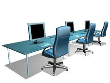 Free OFFICE LCD MONITOR Stock Images - 1013484
