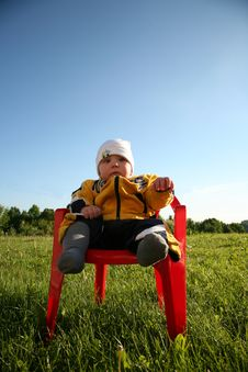 Baby In The Park Royalty Free Stock Photo