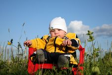 Free Baby In The Park Royalty Free Stock Image - 1015906