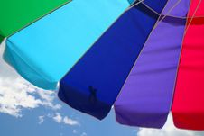 Free Beach Umbrella And Sky Stock Photography - 1016272