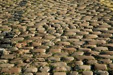 Free Sunny Cobbled Road Close Up Royalty Free Stock Photo - 1016295