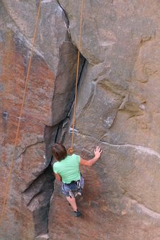 Woman Rock Climber Royalty Free Stock Photography