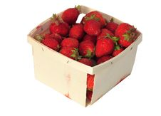 Free Quart Of Strawberries Royalty Free Stock Photography - 1016627