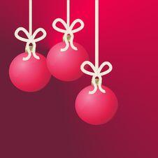 Free Three Hanging Christmas Ornaments Royalty Free Stock Photo - 1016775