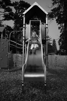 Free Child On Slide Royalty Free Stock Photos - 1017018