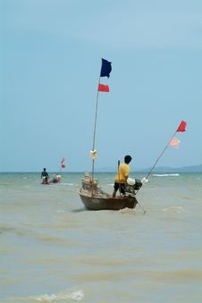 Free Fishing-boats In Thailand Royalty Free Stock Photography - 1017877