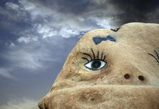 Free One Eyed Rock Stock Images - 1018004