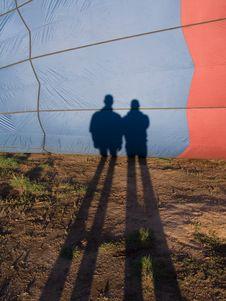 Balloon Shadows Stock Photography