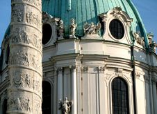 Carls Church, Vienna Stock Photography