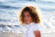 Free Little Child At The Beach Royalty Free Stock Image - 1019556