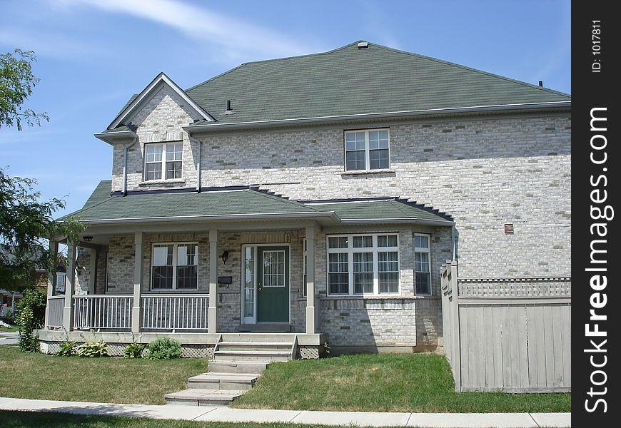 Large Grey Brick House