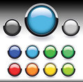 Free Glossy Web Buttons Set Royalty Free Stock Image - 10100246