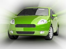 Free Green Car On Abstract Background Stock Photos - 10100233