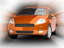 Free Orange Car On Abstract Background Royalty Free Stock Photos - 10100238