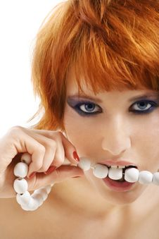 Free Beads In Mouth Stock Image - 10100321