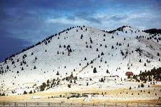 Free Winter Season In Rural Area Stock Image - 10100551