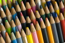 Free Colored Pencils Angled Royalty Free Stock Photography - 10100727
