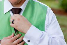 Free Adjusting Tie Stock Photography - 10101012