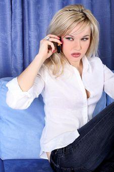 Free Girl Calling Stock Image - 10101321